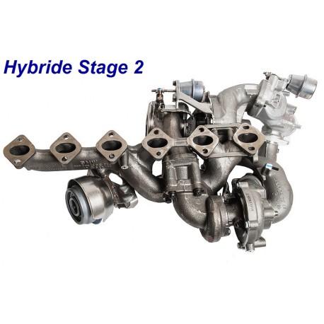 Turbo Hybride STAGE 2 pour BMW 335d E90 et 535d E60 3.0 Diesel Dual-stage 286cv